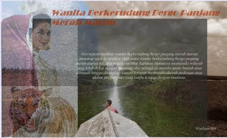 Wanita Berkerudung Bergo Panjang Merah Marun