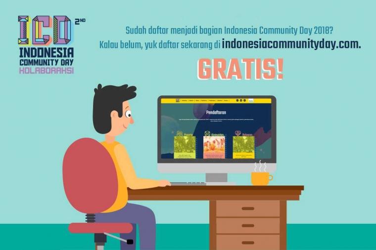 Ayo Daftarkan Diri Anda di Indonesia Community Day 2018!