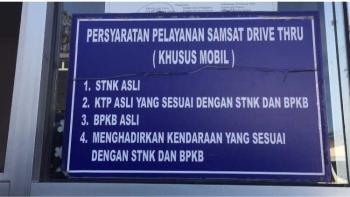 Menjajal Samsat Drive Thru Membayar Pajak Kendaraan Tahunan