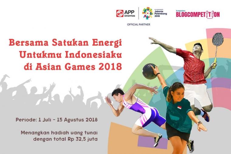 Ikut Ramaikan Asian Games di Kompasiana Bisa Dapat Total Hadiah Rp 32,5 Juta!