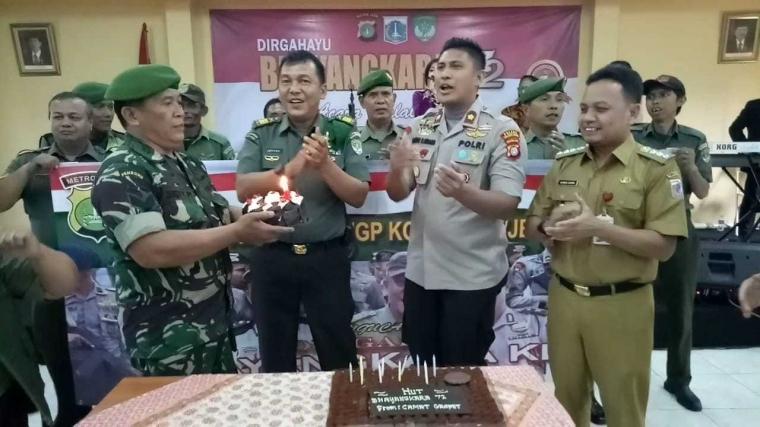 Polsek Tanjung Duren Gelar Perayaan HUT Polri ke-72 & Halal Bihalal Bersama Tiga Pilar