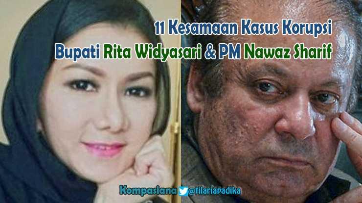 11 Kesamaan Terpidana Korupsi Rita Widyasari dan Nawaz Sharif