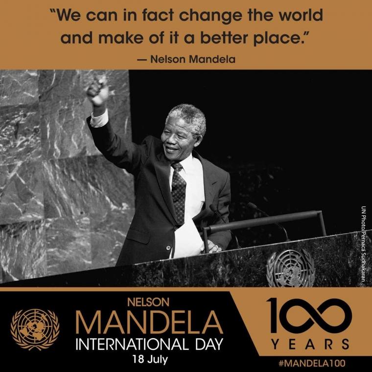 Hendaknya 100 Tahun Hari Kelahiran Mandela Menginspirasi Pilpres RI 2019