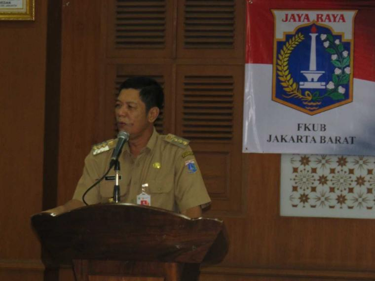 Untuk Tetap Jaga Kerukunan, Tiga Pilar Jakbar Hadiri Halalbihalal FKUB