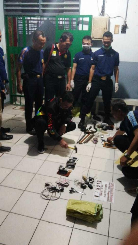 Ferdinand Pimpin Langsung Giat Satgas Kamtib di Lapas Kotabaru