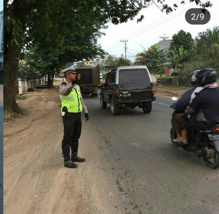 """Antisipasi Kemacetan dan Laka, Polisi di Banyuasin Giat """"Strong Poin"""""""