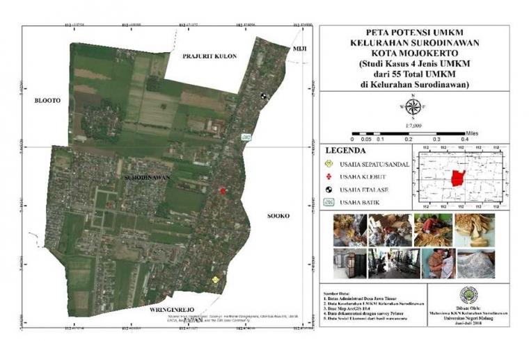 KKN Pulang Kampung, Mahasiswa UM Blusukan Ke Rumah Produksi UMKM Kelurahan Surodinawan