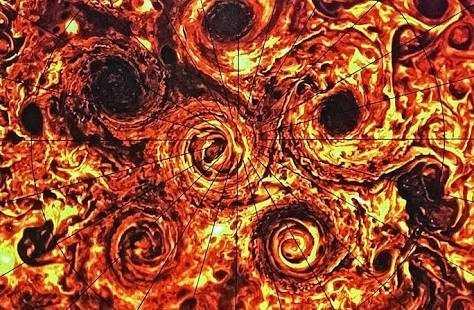 Berkat Juno Kita Bisa Melihat Kumpulan Badai Topan
