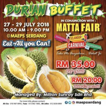 Lewat Pesta Durian, Malaysia Gaet Wisatawan oleh T H