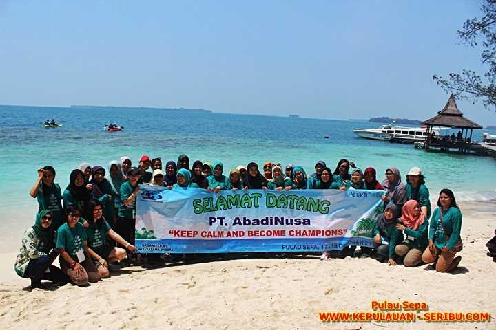 Outing Kantor di Pulau Sepa, Wisata Pulau Seribu