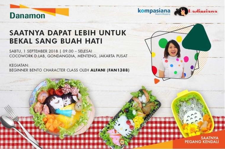 [EVENT KOMUNITAS] Yuk Ikutan Ladiesiana Bento Class, Kreasi Bento Bersama Sang Buah Hati