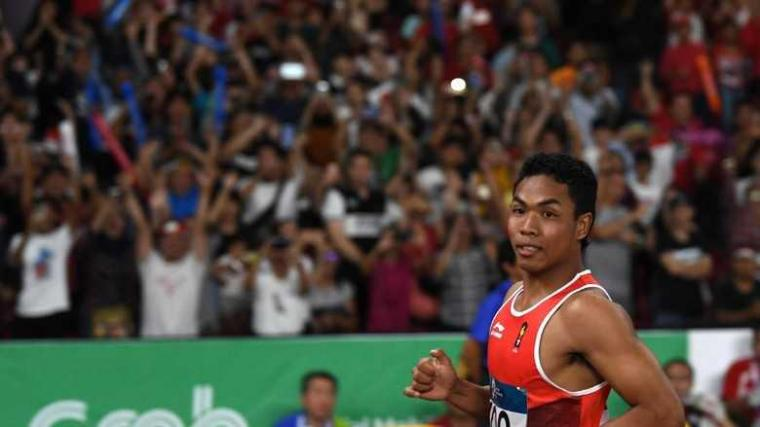 Menahan Nafas Saat Melihat Lesatan Lalu M Zohri di Final Lari 100 Meter Putra
