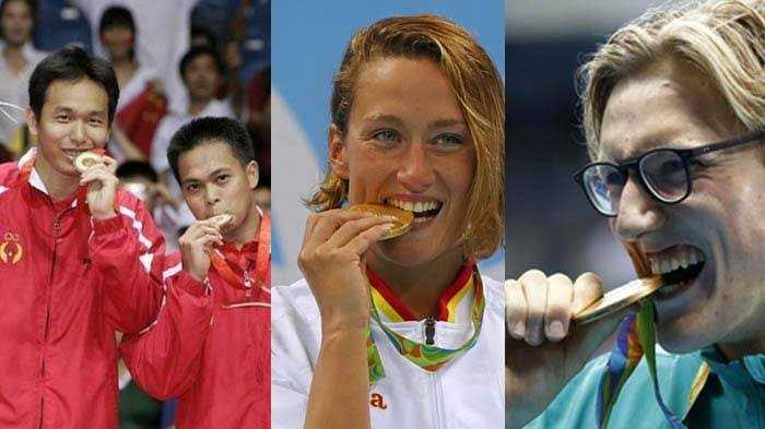Tahukah Anda Mengapa Atlet Suka Menggigit Medali Saat Berpose di Depan Kamera?