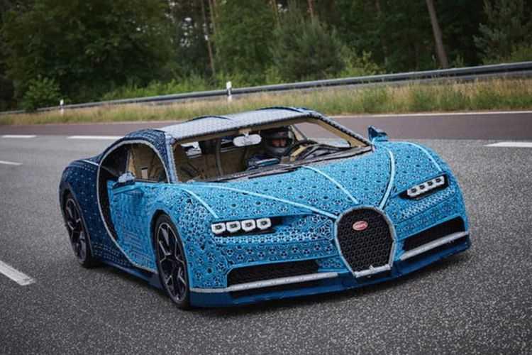 Bikin Mobil Bugatti Chiron Pakai LEGO, Habiskan Biaya Rp 44 Miliar