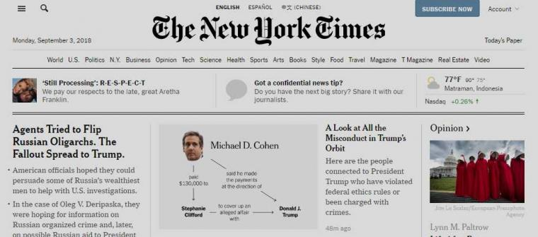 Alasan Kenapa Nytimes.com Bisa Dikatakan Website Berita Paling Lengkap!