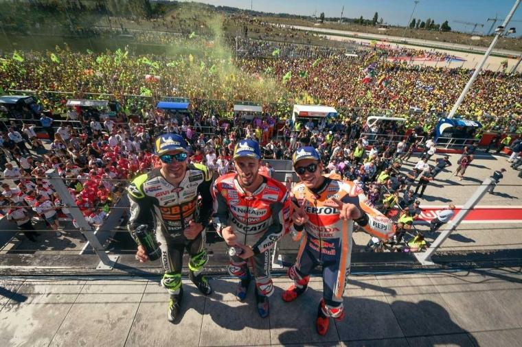 Andrea Dovizioso Menangi MotoGP Misano, Yamaha Tak Berkutik