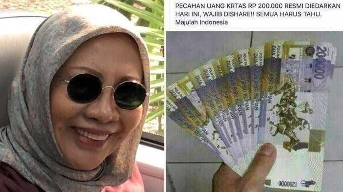Terkait Hoaks Uang Pecahan Rp 200 Ribu, Mengapa Ratna Sarumpaet Tidak Diproses?