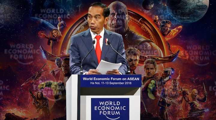 """Analogi """"Thanos Infinity War"""", Pidato Terkeren Pemimpin Dunia, Mungkinkah Ada Peran Erick Thohir?"""