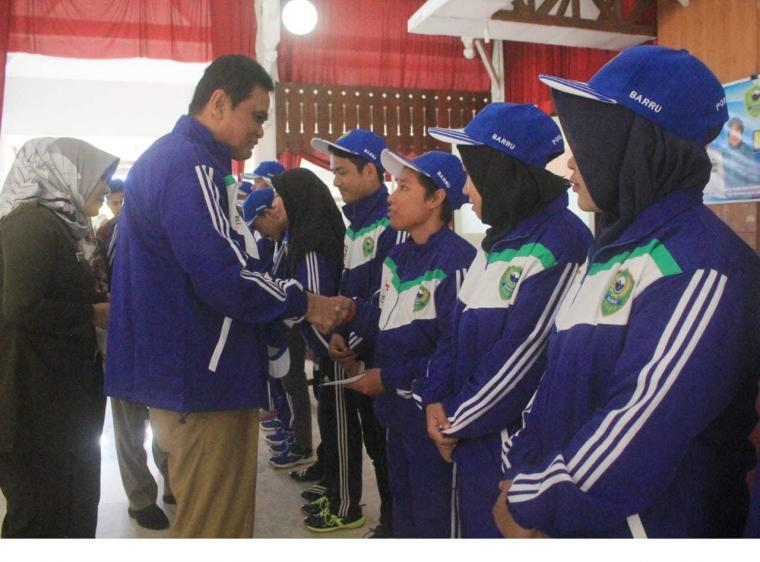 Bupati Barru Harap Tim Porda Barru Ikuti Jejak Indonesia di Asian Games