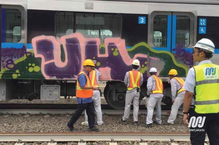 Kemarin KRL, Kini Kereta MRT Jakarta Kena Vandalisme
