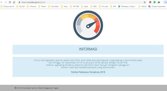 Situs SCCN BKN Akhirnya Mengumumkan Resmi Ditutup