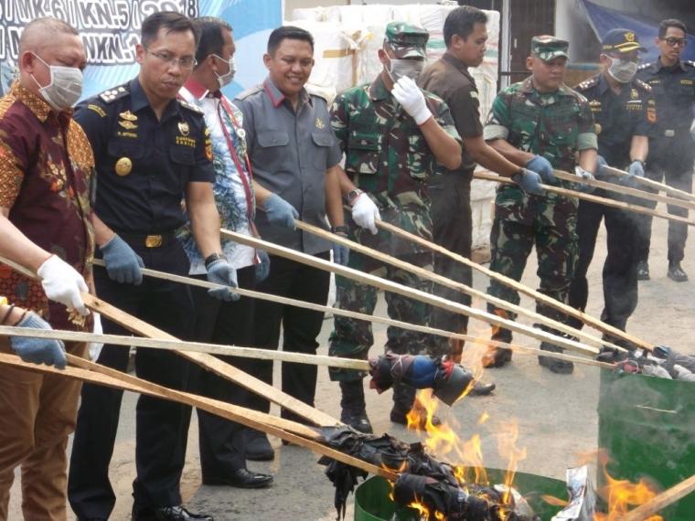 7 Juta Batang Rokok Dimusnahkan Bea Cukai Banjarmasin