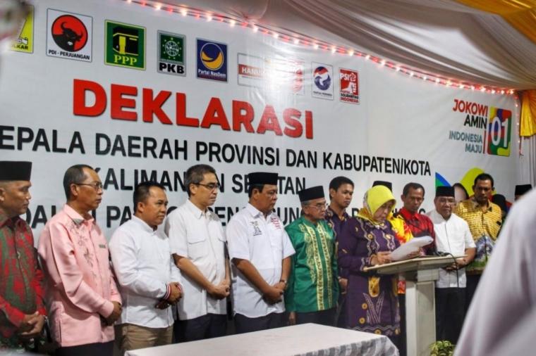 12 Kepala Daerah di Kalsel Dukung Jokowi-Ma'ruf