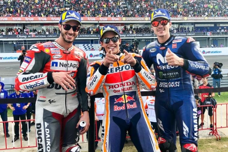 Lewat Pertarungan, Marc Marquez Juarai MotoGP Thailand