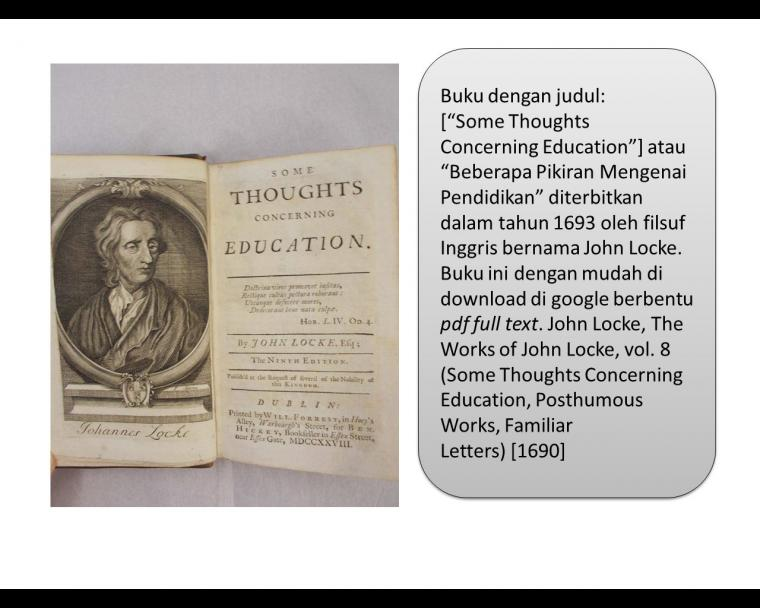 Locke: Some Thoughts Concerning Education [1]