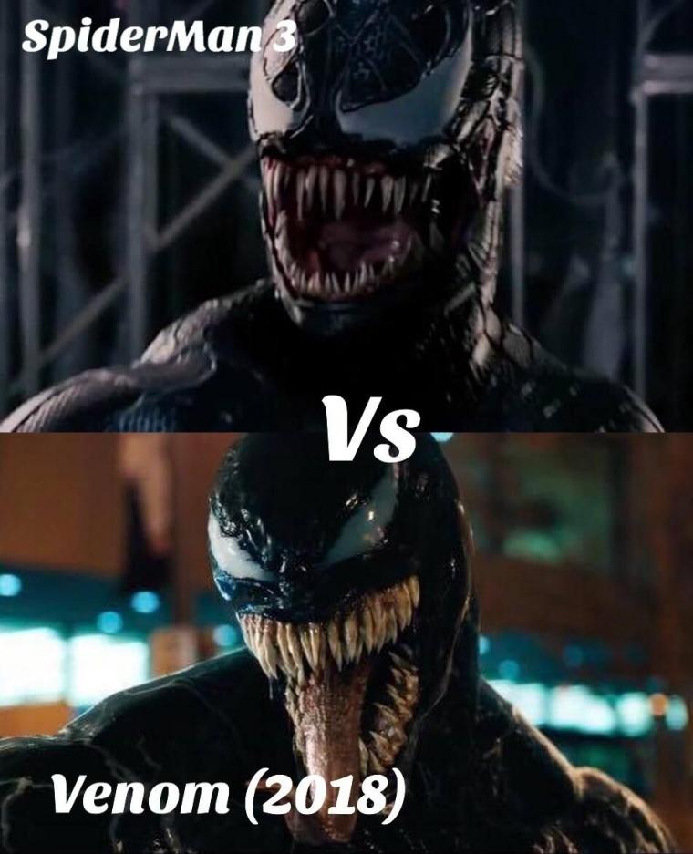 Perbedaan Symbiote Venom dalam Film Spider Man 3 dan Film Venom