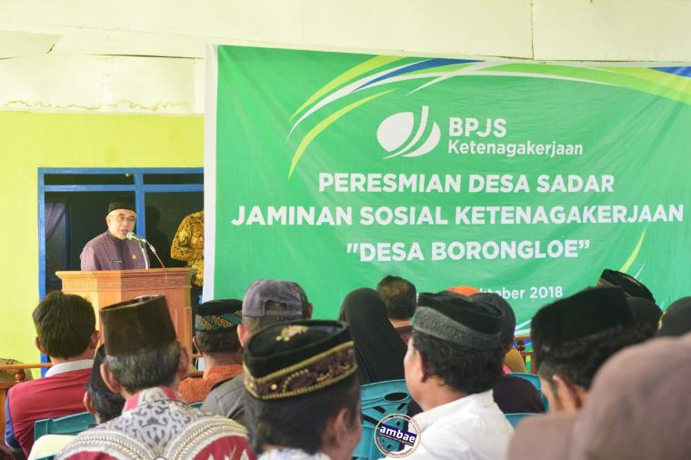 Wabup Resmikan Borong Loe Jadi Desa Sadar BPJS Ketenagakerjaan