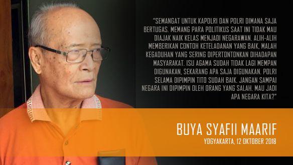 Buya: Polri Dipimpin Tito Sudah Baik