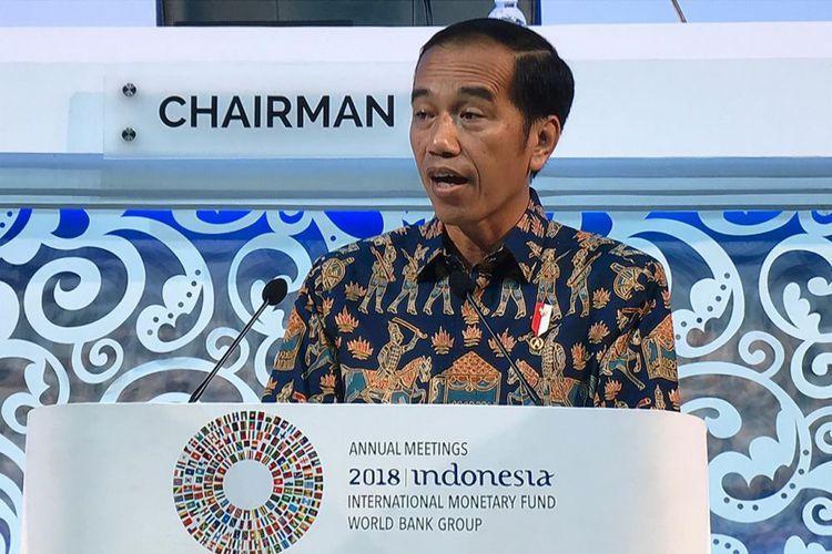 "Pertemuan IMF-World Bank di Bali, Presiden Jokowi Pidato Tentang ""Game of Thrones"""