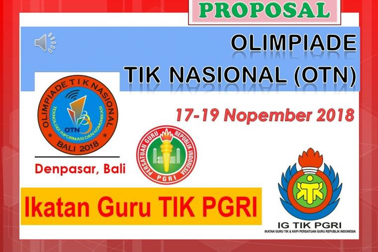 Ikutilah Olimpiade TIK Nasional (OTN) 17-19 Nopember 2018 di Bali