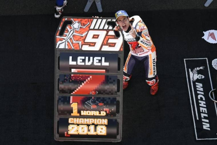 Dovizioso Gagal Finis di MotoGP Motegi, Marquez Rebut Juara Dunia MotoGP 2018