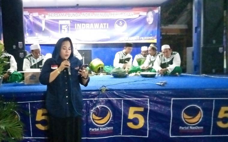 Resmikan Posko Pemenangan, Indrawati: Untuk Tempat Aspirasi Masyarakat
