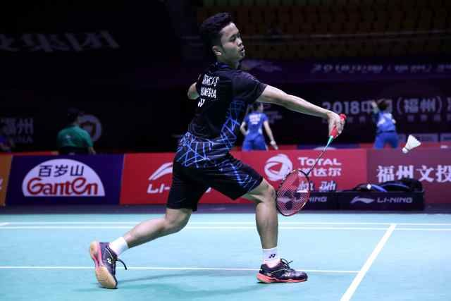 Indonesia Tinggal Menyisakan Anthony Sinisuka Ginting di Sektor Tunggal Putra China Terbuka 2018