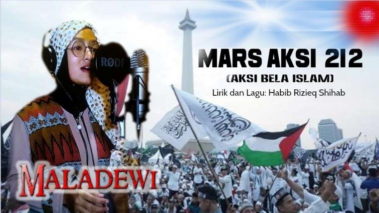 Penyanyi Cantik Rilis Mars Aksi 212 Karya Habib Rizieq