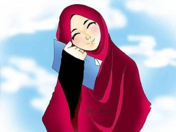 77 Gambar Kartun Muslimah Rindu Terbaik