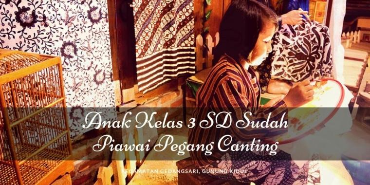 """Anak Kelas 3 SD di Gedangsari, Gunung Kidul Sudah Piawai """"Pegang Canting"""""""