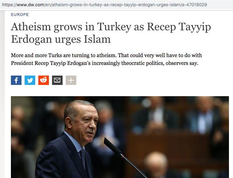 Ateisme di Turki Karena Erdogan (DW.com)