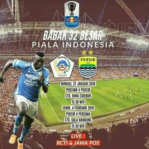 Babak 32 Besar akan Mempertemukan Persiwa Wamena Vs Persib Bandung di Stadion Bima Kota Cirebon