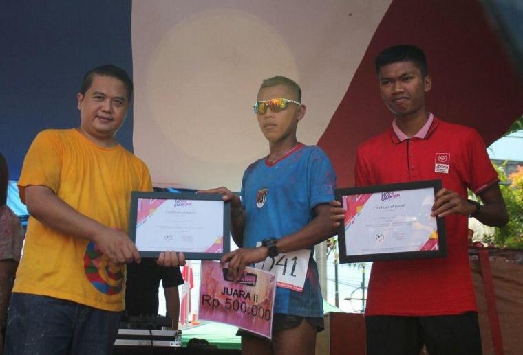 Atlet Pelari Prajurit Petarung Yonif 407/PK Raih Juara 5K