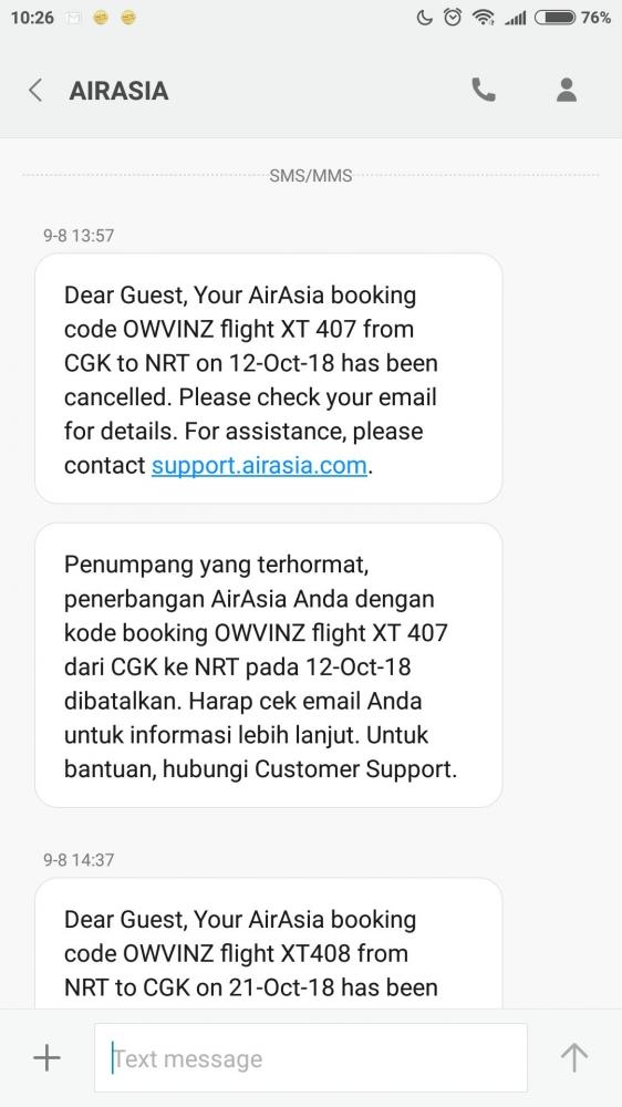AirAsia Batalkan Tiket, Uang Konsumen Tidak Kembali