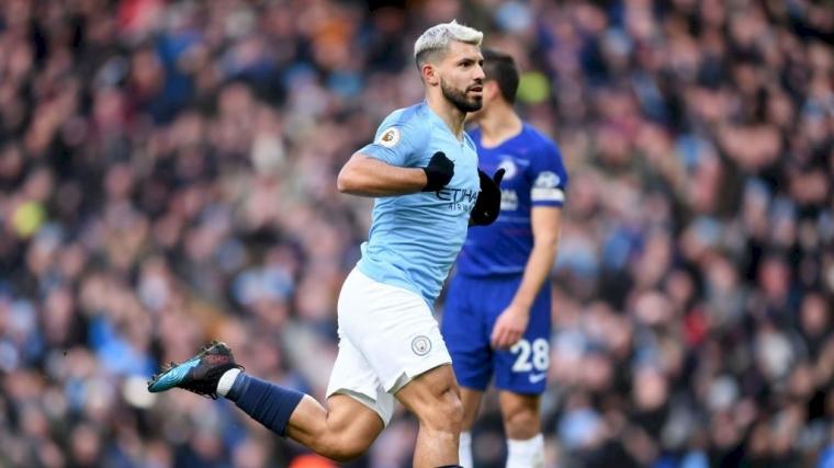 Kabar dari Etihad, Aguero Bawa City ke Puncak Klasemen Premier League