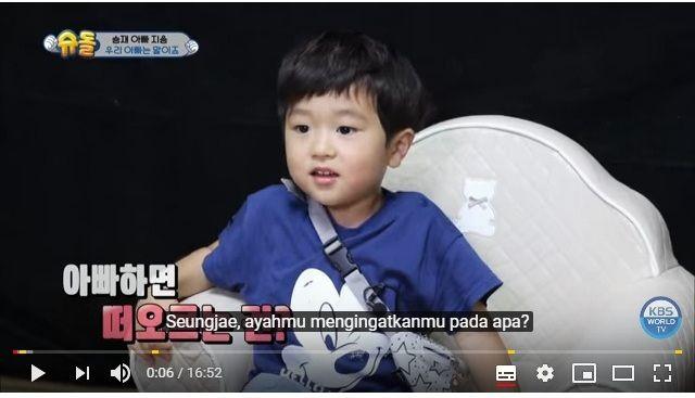 """Seung Jae, Balita Menggemaskan di Reality Show """"The Return of Superman"""""""