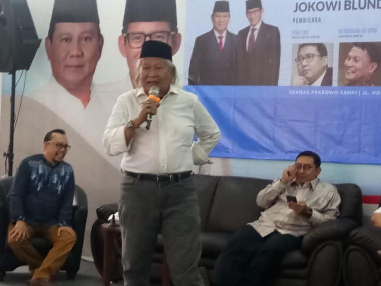 Siapa yang Akan Jadi Jawara Pilpres? Ini Prediksi Ridwan Saidi