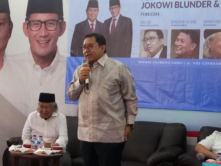 Jokowi dan Kisah Petruk Dadi Ratu Versi Fadli Zon