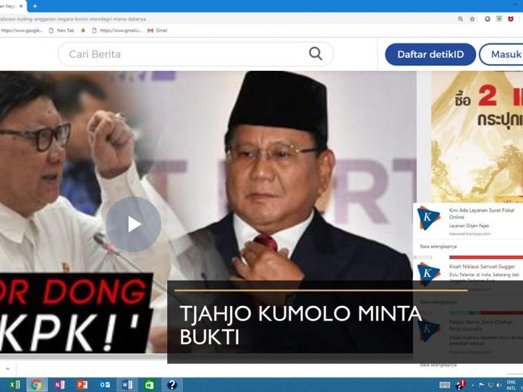 Prabowo Kebocoran APBN Rp500T, Kok Minta Bukti?