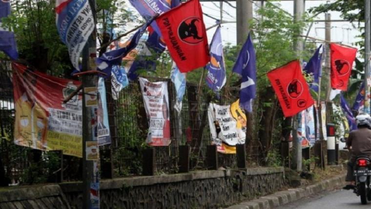 Jelang Pemilu, APK Jadi Penyumbang Sampah Visual Terbesar di Yogyakarta